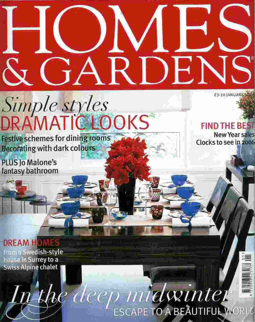 homes and gardens magazine january 2006 sophie coryndon. Black Bedroom Furniture Sets. Home Design Ideas